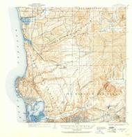 La Jolla, California 1930 (1960) USGS Old Topo Map 15x15 Quad