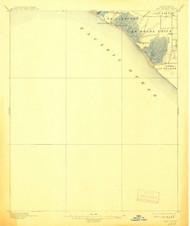 La Bolsas, California 1896 (1908) USGS Old Topo Map 15x15 Quad