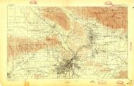 Los Angeles, California 1894 (1897) USGS Old Topo Map 15x15 Quad