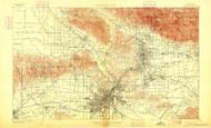 Los Angeles, California 1900 (1900) USGS Old Topo Map 15x15 Quad