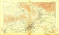 Los Angeles, California 1900 (1904) USGS Old Topo Map 15x15 Quad