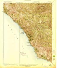 Lucia, California 1921 (1921) USGS Old Topo Map 15x15 Quad