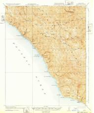 Lucia, California 1921 (1932) USGS Old Topo Map 15x15 Quad