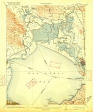 Mare Island, California 1916 (1916) USGS Old Topo Map 15x15 Quad