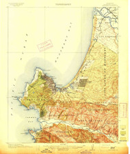 Monterey, California 1913 (1913) USGS Old Topo Map 15x15 Quad