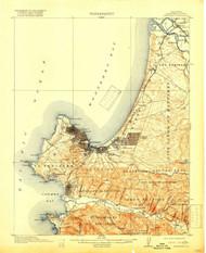 Monterey, California 1913 (1918) USGS Old Topo Map 15x15 Quad