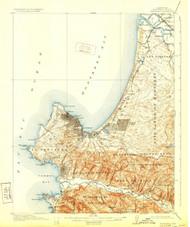 Monterey, California 1913 (1929) USGS Old Topo Map 15x15 Quad