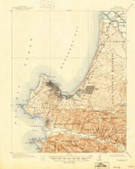 Monterey, California 1913 (1946) USGS Old Topo Map 15x15 Quad