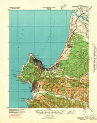 Monterey, California 1941 (1941) USGS Old Topo Map 15x15 Quad