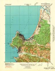Monterey, California 1941 (1941) USGS Old Topo Map 15x15 Quad