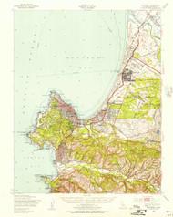 Monterey, California 1947 (1956) USGS Old Topo Map 15x15 Quad