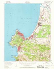Monterey, California 1947 (1969) USGS Old Topo Map 15x15 Quad