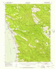 Navarro, California 1943 (1857) USGS Old Topo Map 15x15 Quad