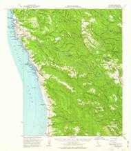 Navarro, California 1961 (1962) USGS Old Topo Map 15x15 Quad