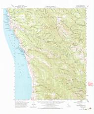 Navarro, California 1961 (1967) USGS Old Topo Map 15x15 Quad