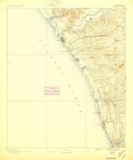 Oceanside, California 1898 (1897) USGS Old Topo Map 15x15 Quad