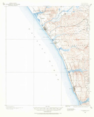 Oceanside, California 1901 (1971) USGS Old Topo Map 15x15 Quad
