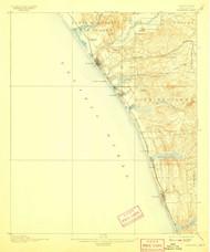 Oceanside, California 1901 (1907) USGS Old Topo Map 15x15 Quad