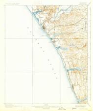 Oceanside, California 1901 (1931) USGS Old Topo Map 15x15 Quad