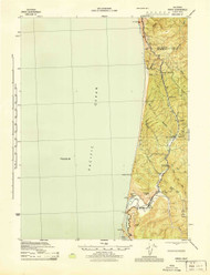 Orick, California 1945 (1945) USGS Old Topo Map 15x15 Quad