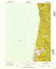 Orick, California 1952 (1954) USGS Old Topo Map 15x15 Quad