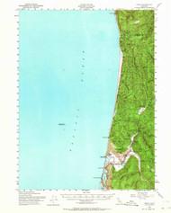 Orick, California 1952 (1964) USGS Old Topo Map 15x15 Quad