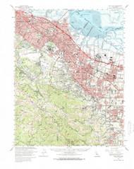 Palo Alto, California 1961 (1966) USGS Old Topo Map 15x15 Quad