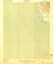 Piedras Blancas, California 1919 (1919) USGS Old Topo Map 15x15 Quad
