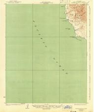 Piedras Blancas, California 1927 (1941) USGS Old Topo Map 15x15 Quad
