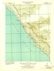 Plantation, California 1943 (1943) USGS Old Topo Map 15x15 Quad