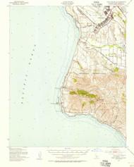 Point Arguello, California 1947 (1956) USGS Old Topo Map 15x15 Quad