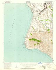 Point Arguello, California 1947 (1958) USGS Old Topo Map 15x15 Quad