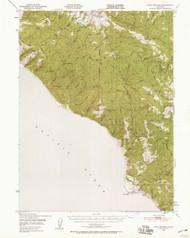 Point Delgada, California 1949 (1958) USGS Old Topo Map 15x15 Quad