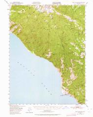 Point Delgada, California 1949 (1964) USGS Old Topo Map 15x15 Quad
