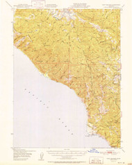 Point Delgada, California 1951 (1951) USGS Old Topo Map 15x15 Quad