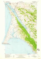 Point Reyes, California 1954 (1959) USGS Old Topo Map 15x15 Quad