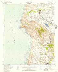 Point Sal, California 1947 (1957) USGS Old Topo Map 15x15 Quad