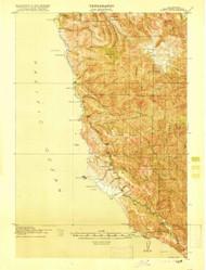 Point Sur, California 1918 (1918) USGS Old Topo Map 15x15 Quad