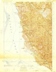 Point Sur, California 1925 (1925) USGS Old Topo Map 15x15 Quad