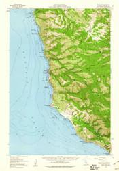 Point Sur, California 1956 (1960) USGS Old Topo Map 15x15 Quad