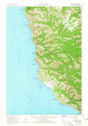 Point Sur, California 1956 (1956) USGS Old Topo Map 15x15 Quad
