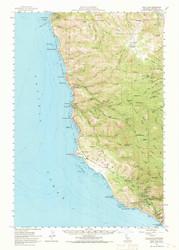 Point Sur, California 1956 (1970) USGS Old Topo Map 15x15 Quad