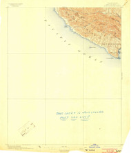 Port Harford, California 1897 (1903) USGS Old Topo Map 15x15 Quad