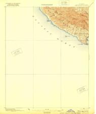Port San Luis, California 1897 (1921) USGS Old Topo Map 15x15 Quad