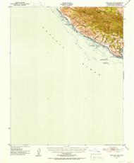 Port San Luis, California 1951 (1953) USGS Old Topo Map 15x15 Quad