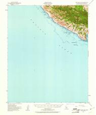 Port San Luis, California 1951 (1961) USGS Old Topo Map 15x15 Quad