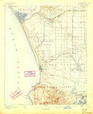 Redondo, California 1896 (1896) USGS Old Topo Map 15x15 Quad