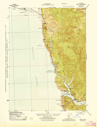 Requa, California 1945 (1945) USGS Old Topo Map 15x15 Quad