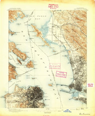 SanFrancisco, California 1895 (1895) USGS Old Topo Map 15x15 Quad