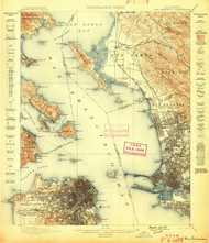 SanFrancisco, California 1899 (1899) USGS Old Topo Map 15x15 Quad